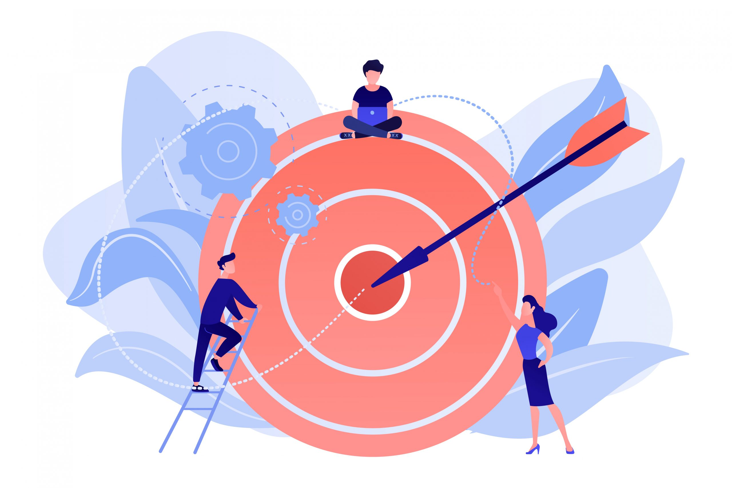 Goals and objectives concept vector illustration.
